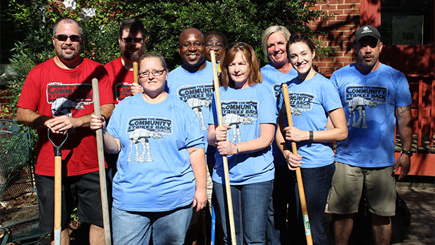 Riverwind Volunteers for United Way of Norman's A Day of Caring